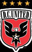 DC United logo (1998-2015, four stars)