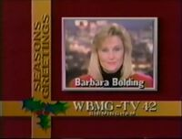 WBMG-TV 42 Season Greetings with Barbara Bolding ID 1990