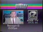 KODE-TV Newssight 12 1987 Promo 2