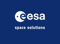 ESAsolid logo spacesolutions whiteonblue