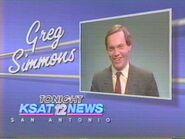 KSAT-TV's KSAT 12 News Tonight's Greg Simmons ID From Late 1986