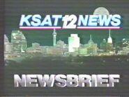 KSAT-TV's KSAT 12 News' Newsbrief Bumper From Late 1986