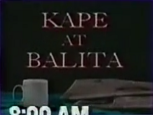 Kape at Balita title card (GMA Network, 1991–93).png