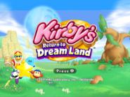 KRTDL Title Screen 4x3 Blue Kirby