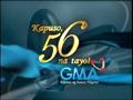 GMA 56 Years Logo