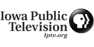 Iowa Public Television logo black
