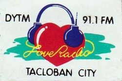 91.1 Love Radio logo 1990s .jpg