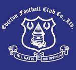 Everton FC logo (1938, white on blue)