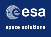 ESAlogo spacesolutions whiteonblue