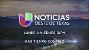 Noticias univision oeste de texas 10pm mas tiempo contigo promo 2019