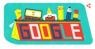 Google Doodle 1st September School's Day 2016