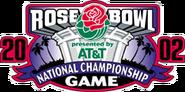 2002 Rose Bowl logo