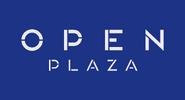 Open Plaza logo 2016 con nombre completo y fondo
