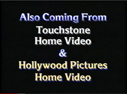 Walt Disney Studios Home Entertainment Buena Vista Also Coming From Touchstone Home Video & Hollywood Pictures Home Video Logo 1992