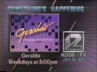 KODE-TV Geraldo 1987 Promo