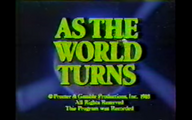 As The World Turns Close From 1985 - 2