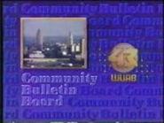 WUAB COMMUNITY BULLETIN BOARD LOGO 1986-1991