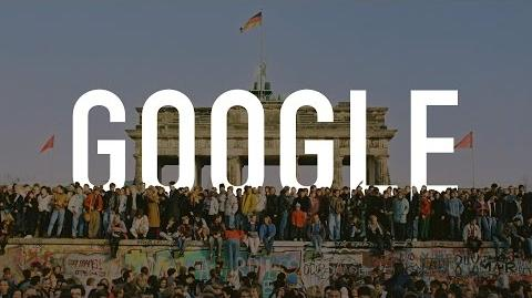 The 25th Anniversary of the Fall of the Berlin Wall Google Doodle