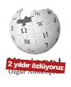 Turkish-language wikipedia logo on white with red bar