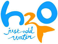 The logo in cartoon style.