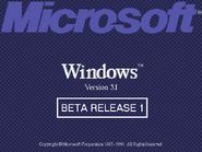 Windows 3.1 Beta 1 Bootscreen (1991)