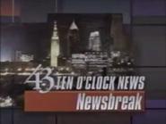 WUAB 43 The 10 O'Clock News Newsbreak