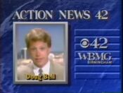 WBMG Action News 42 Doug Bell promo 1990