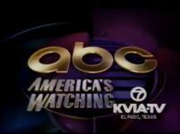 ABC ID America's Watching with KVIA-TV 7 El Paso 1991-92