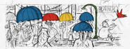 Google Mario Miranda's 90th birthday (Sketch)