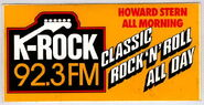 WXRK-FM's K-Rock 92.3 FM Logo From Early 1986