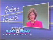 KSAT-TV's KSAT 12 News Tonight's Debora Daniels ID From Late 1986