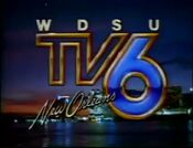 WDSU new orleans TV6 New Orleans skyline sunset 1983-1989