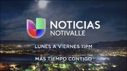 Kver noticias univision notivalle 11pm mas tiempo contigo promo 2019