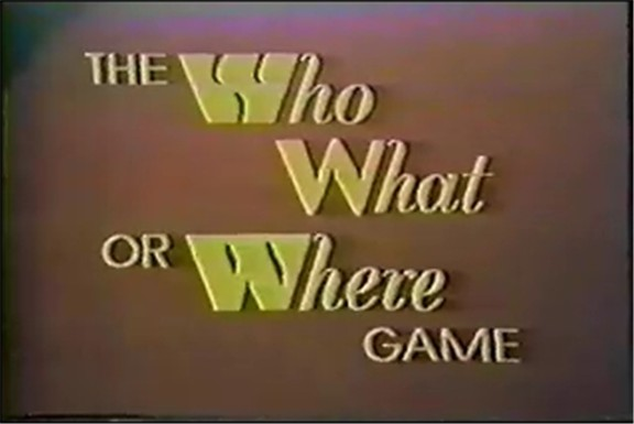 The Who, What, or Where Game