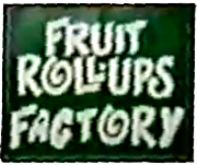 Another updated logo for the fictitious Fruit Roll-Ups Factory. The letters in 'FACTORY' are bubblier.