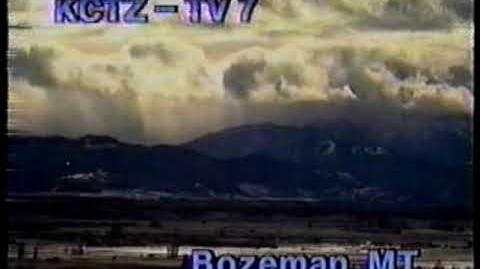 KCTZ TV-7 station id 1991--Downtown Bozeman (Bozeman, MT ABC affiliate)