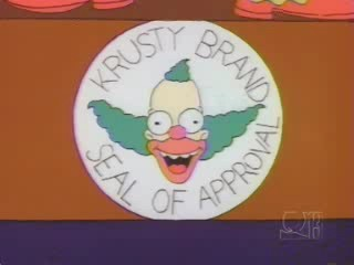 Krusty Brand Seal of Approval