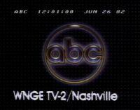 ABC Network ident with WNGE-TV Nashville byline - Fall 1981