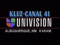 Kluz k48am canal 41 univision id early 1990