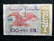 Colombia-estampilla-de-100-anos-del-banco-de-colombia-1974 MCO-F-18648623 5322