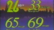 WCIU-TV & 3 translators ID 1989