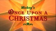 Mickey's Once Upon a Christmas Title Card