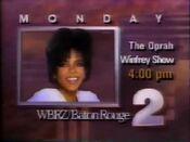 WBRZ 2 The Oprah Winfrey Show Promo 1989