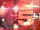 Canale 5 - christmas red with snowflakes, 2001