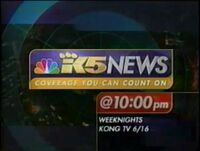 King 5 News at 10 Commercial - KONG TV 1999