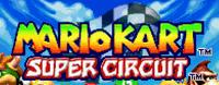 Mario Kart Super Circuit US title screen logo