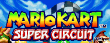 Mario Kart Super Circuit US title screen logo