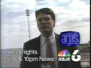 KBJR-TV's News 6 At 5, 6 And 10's Weather With George Kessler Video Promo From 1995