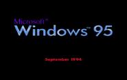 Windows 95 Beta 1 Bootscreen (September 1994)