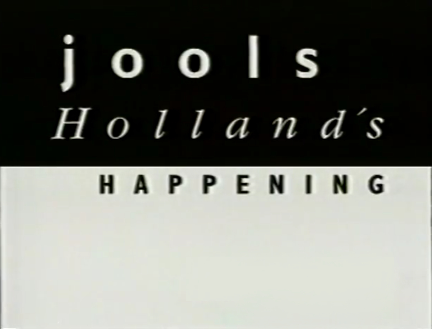 Jools Holland's Happening